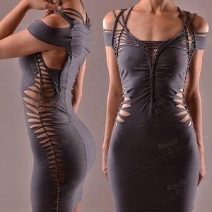 Slash Bodycon Dress